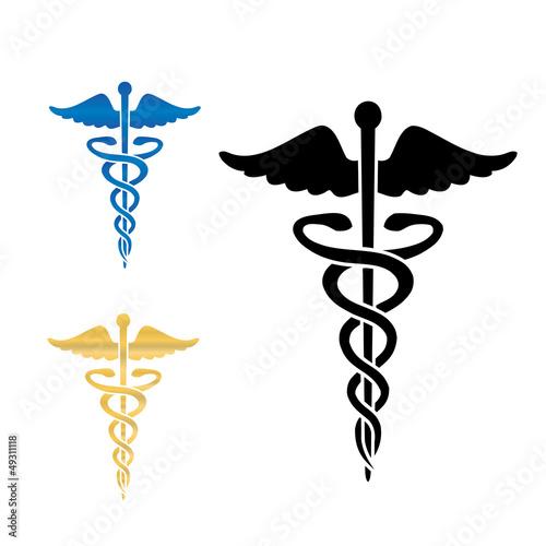 caduceus medical symbol vector illustration stock image and rh us fotolia com Vector Caduceus Laser Vector Caduceus Laser