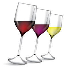 Glass of wine vector