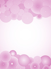 Wallpaper with pink circles