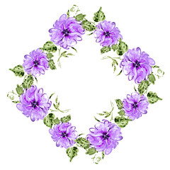 Pattern of purple flowers