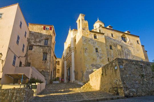 Calvi Town in Corsica island, France
