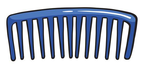A blue comb