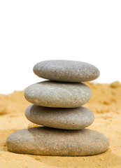 Foto op Plexiglas Stenen in het Zand sand and rock for harmony and balance in pure simplicity