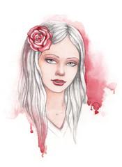 Fashion illustration of beauty woman