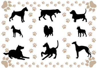 cover with the silhouettes of the dogs