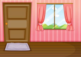 A window and a door