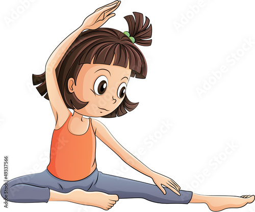 Quot A Girl Doing Yoga Quot Stock Image And Royalty Free Vector