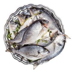 Dorado fish on a plate