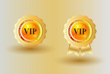 VIP Badge Gold Background