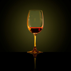 glass of wine, illustration