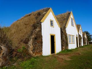Isländische Lehmhütten