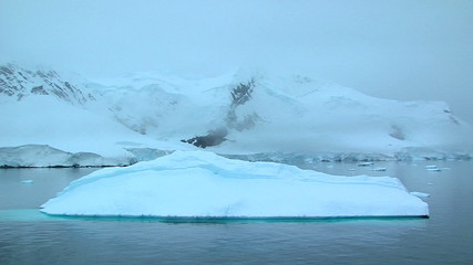 Wall Mural - antarctic landscape with iceberg