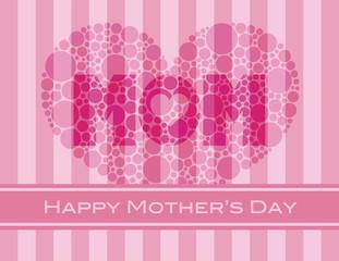 Happy Mothers Day Polka Dots Heart
