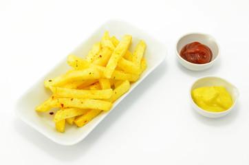 Fritten mit Sauce