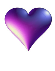 purple rain of hearts