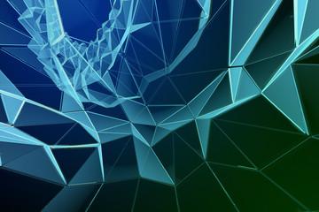 Abstrakter Voronoi Hintergrund Digital 3D