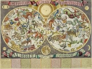 Vintage celestial map