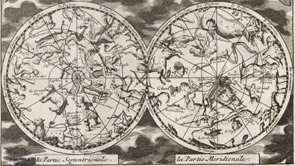 Vintage stellar map