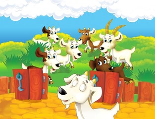 Poster Ranch The life on the farm - illustration for the children