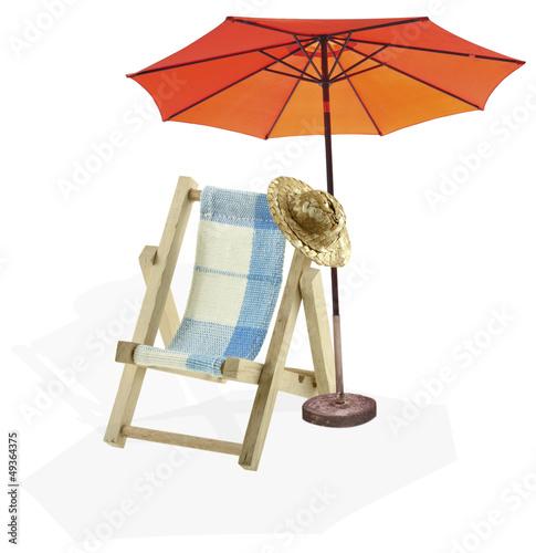 chaise longue parasol de plage vacances d tente photo libre de droits sur la banque d 39 images. Black Bedroom Furniture Sets. Home Design Ideas
