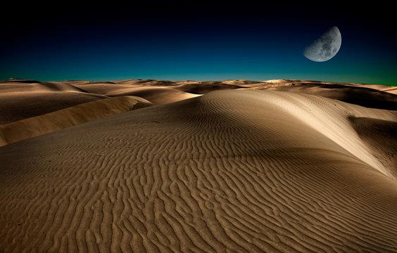 Night in desert
