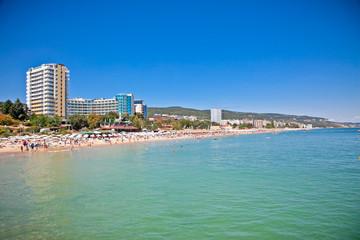Panoramic view on Varna beach in Bulgaria. Wall mural