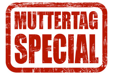 Grunge Stempel rot MUTTERTAG SPECIAL