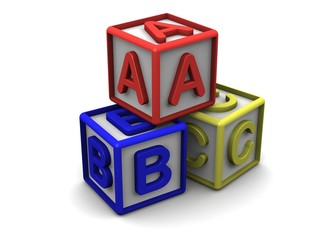 A B C Letters Cubes Stack