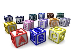 A-N Letters Cubes