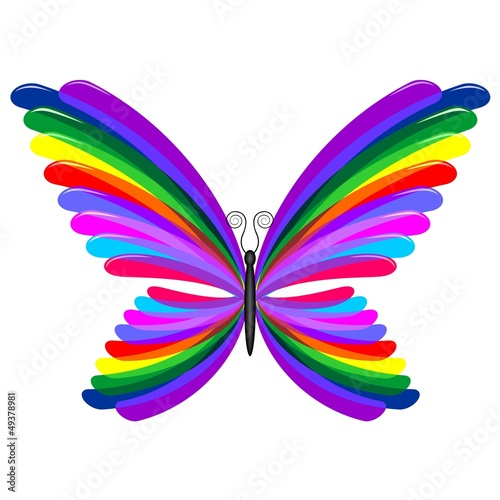 Butterfly rainbow abstract design farfalla arcobaleno for Arcobaleno design