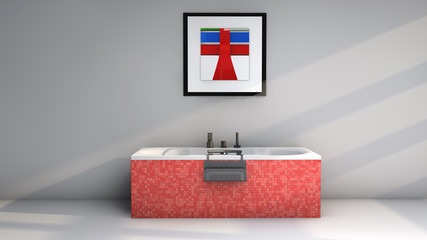 Bañera y cuadro