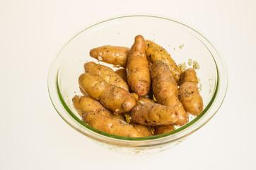 Bowl of fingerling potatoes