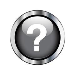 Black question button