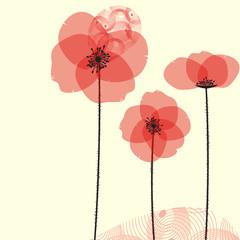 Tuinposter Abstract bloemen Poppy
