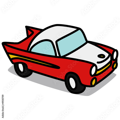 Cartoon Car 61 Old Sports Car Stock Image And Royalty Free Vector
