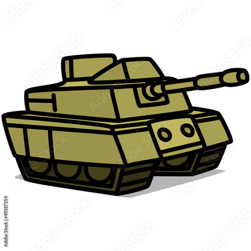 """Cartoon Car 63 : Military Tank"" Stock image and royalty ..."