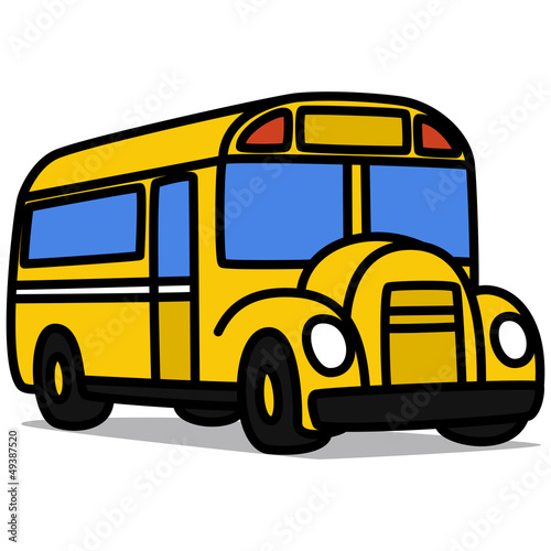 """Cartoon Car 65 : School Bus"" 스톡 이미지, 로열티프리 벡터 파일 ..."