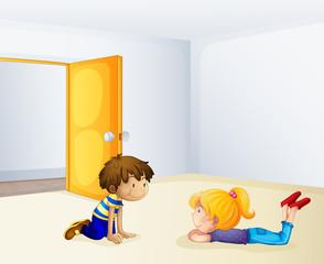 Kids chatting inside a room