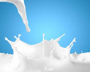 Image of milk splashes