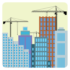 Construction of buildings.