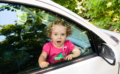 child cries in car