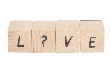 The Word Love With Question Mark.
