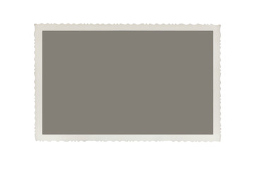 Old photo isolated on white background with clipping path for th