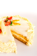Carrot cake light healthy option marzipan