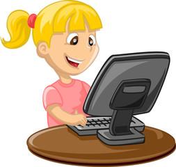 Девушка и компьютер