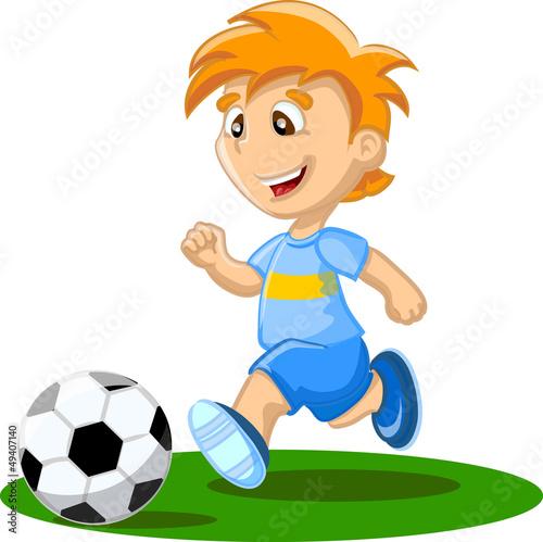 Рисунок мальчика который играет в футбол