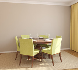 Dining-room interior.