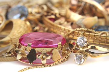 golden jewelry background