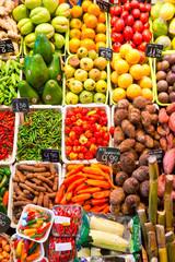Fruit market in Barcelona, Spain