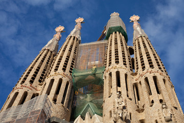 West towers of La Sagrada Familia